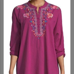 NWT Johnny Was Fuchsia Gemstone Embroidery S $220